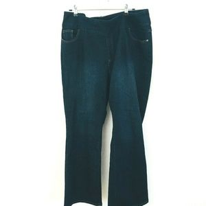 Denim & Co QVC Pull On Boot Cut Jeans